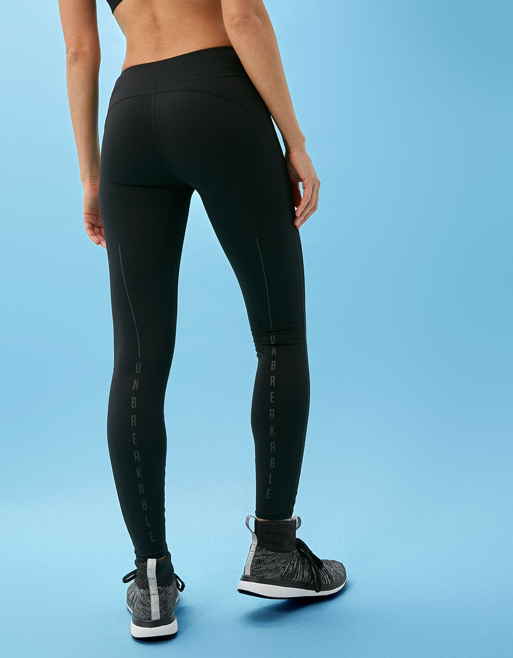 Combined mesh technical sports leggings