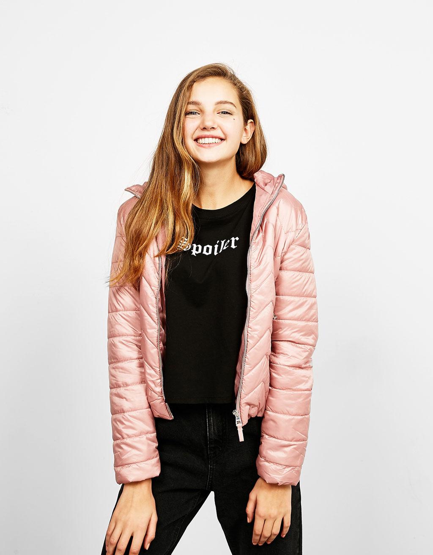 BSK hooded fine nylon jacket