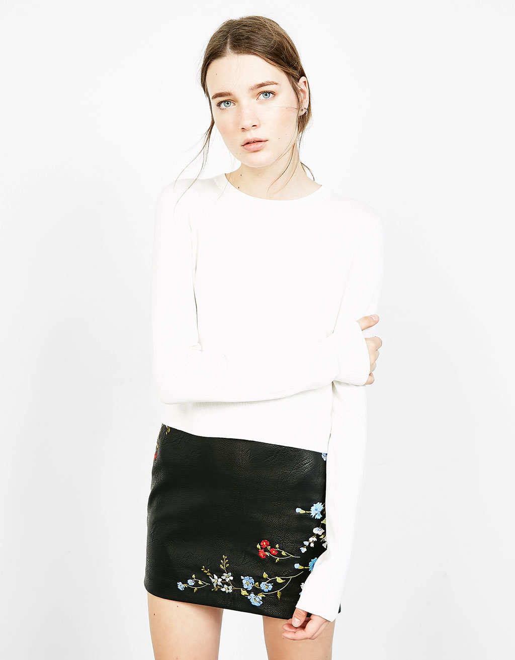 Cropped viscose jumper