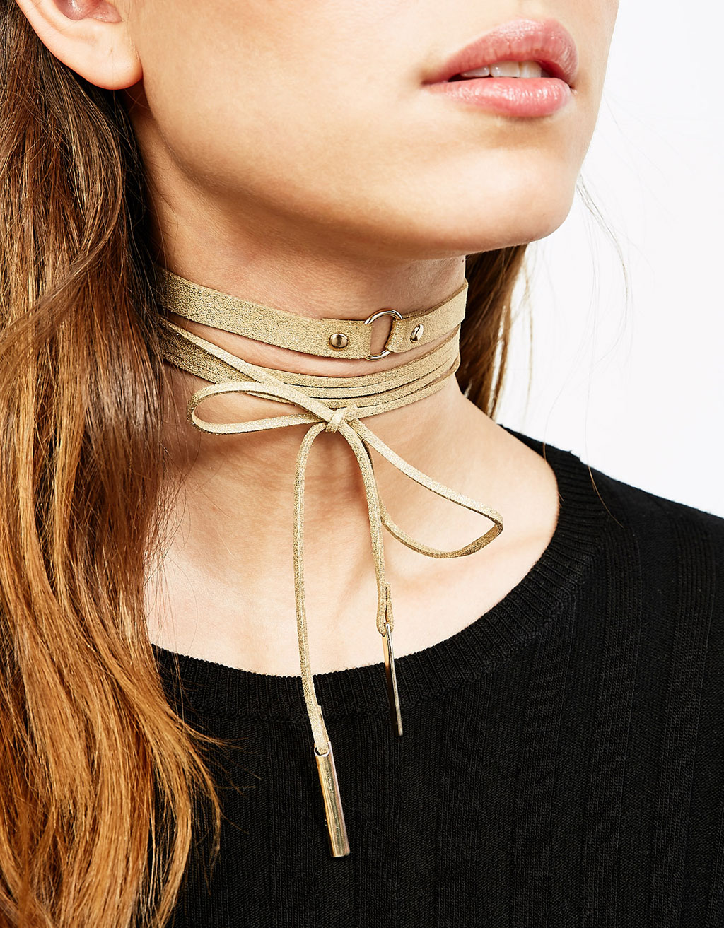 Pack 2 colliers chokers velours