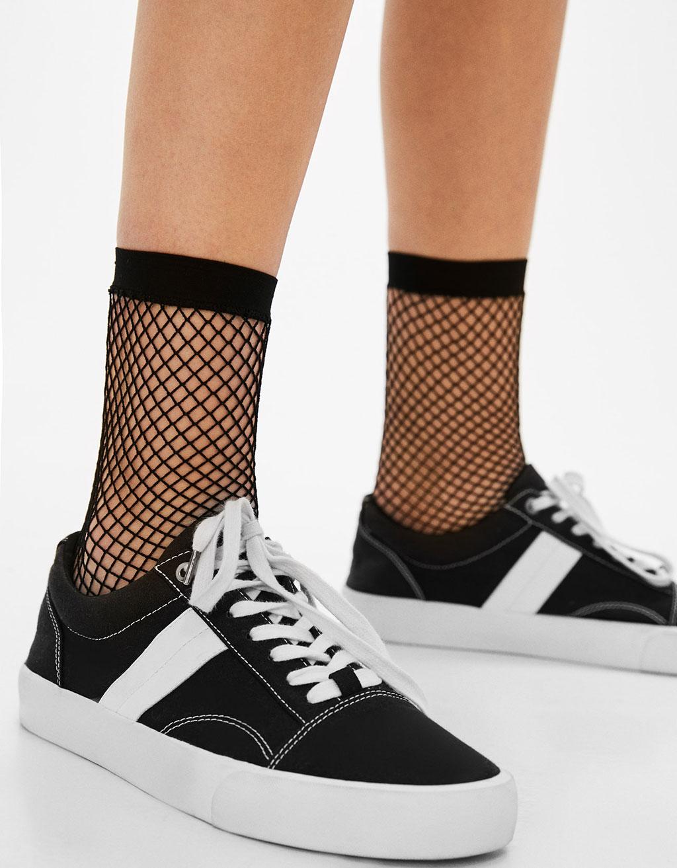 Krátké mřížkované ponožky