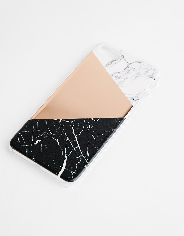 Karkasa marmol-efektuarekin, iPhone 7