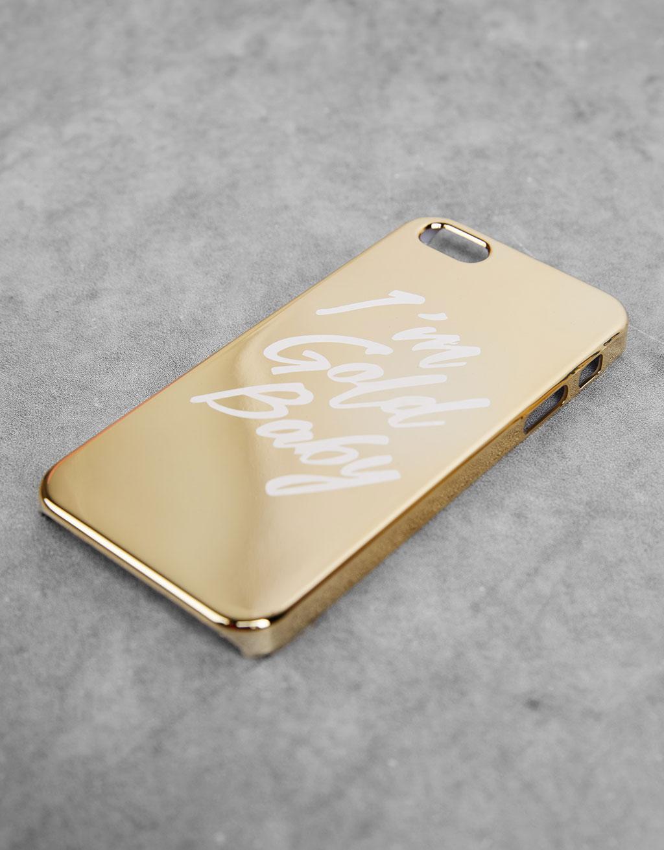 Metallic text iPhone 5/5s/5se cover