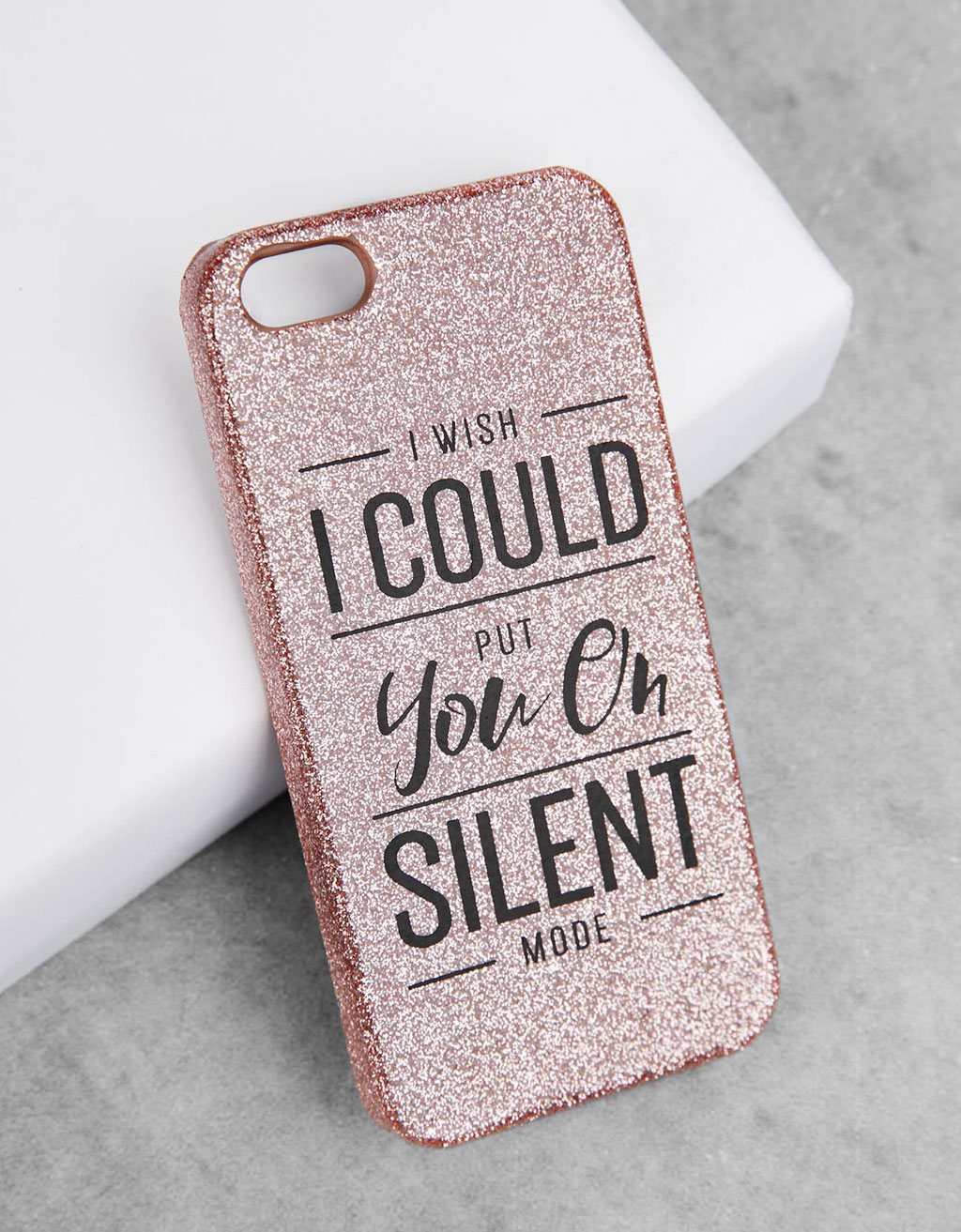 Sparkly text iPhone 5/5s cover