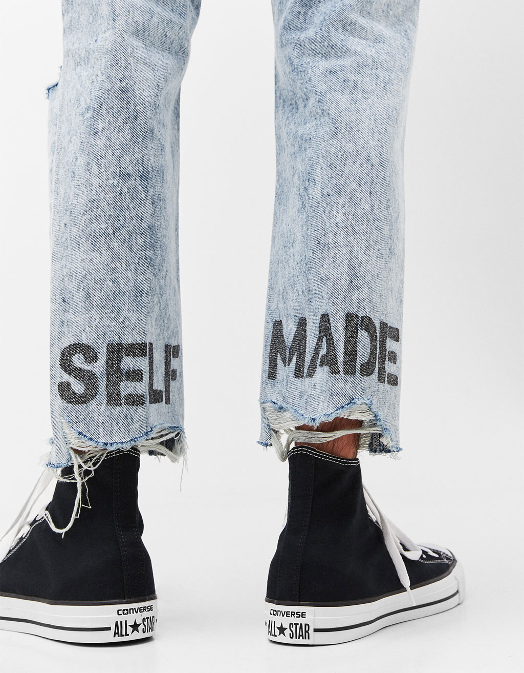 'Self Made' slim fit jeans
