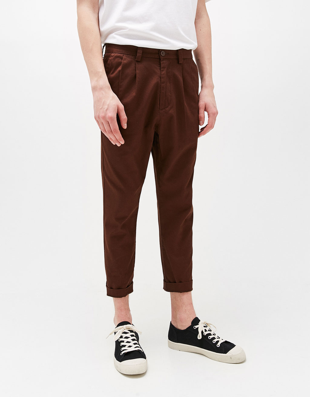 Tailor fit cotton trousers