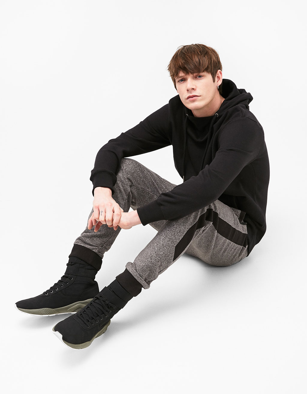 Contrast jogger trousers