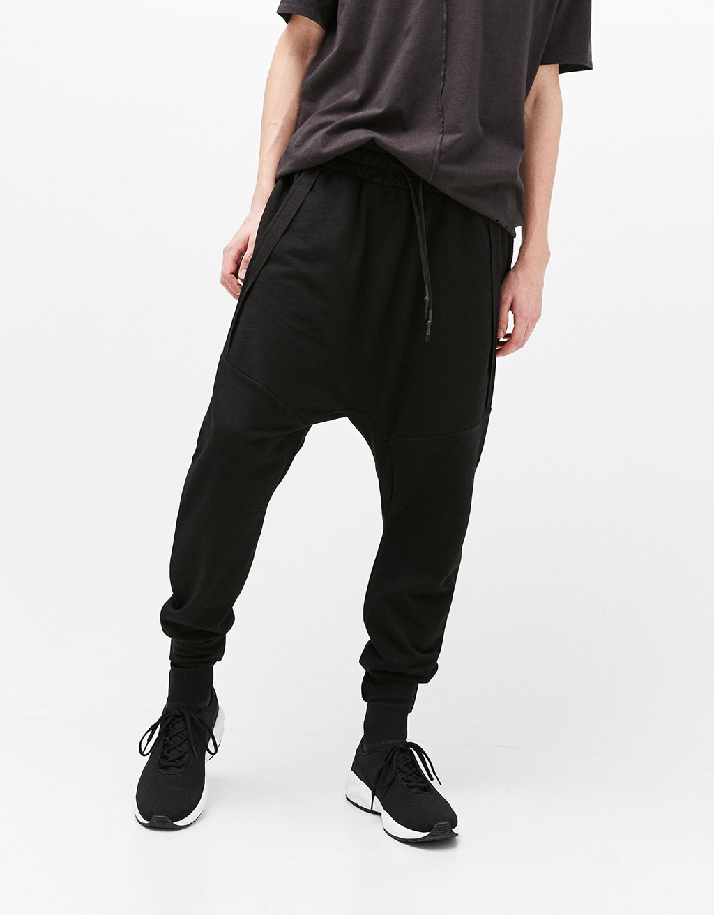 Textured weave jogger trousers