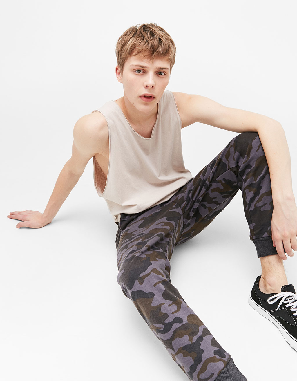 Camouflage plush trousers