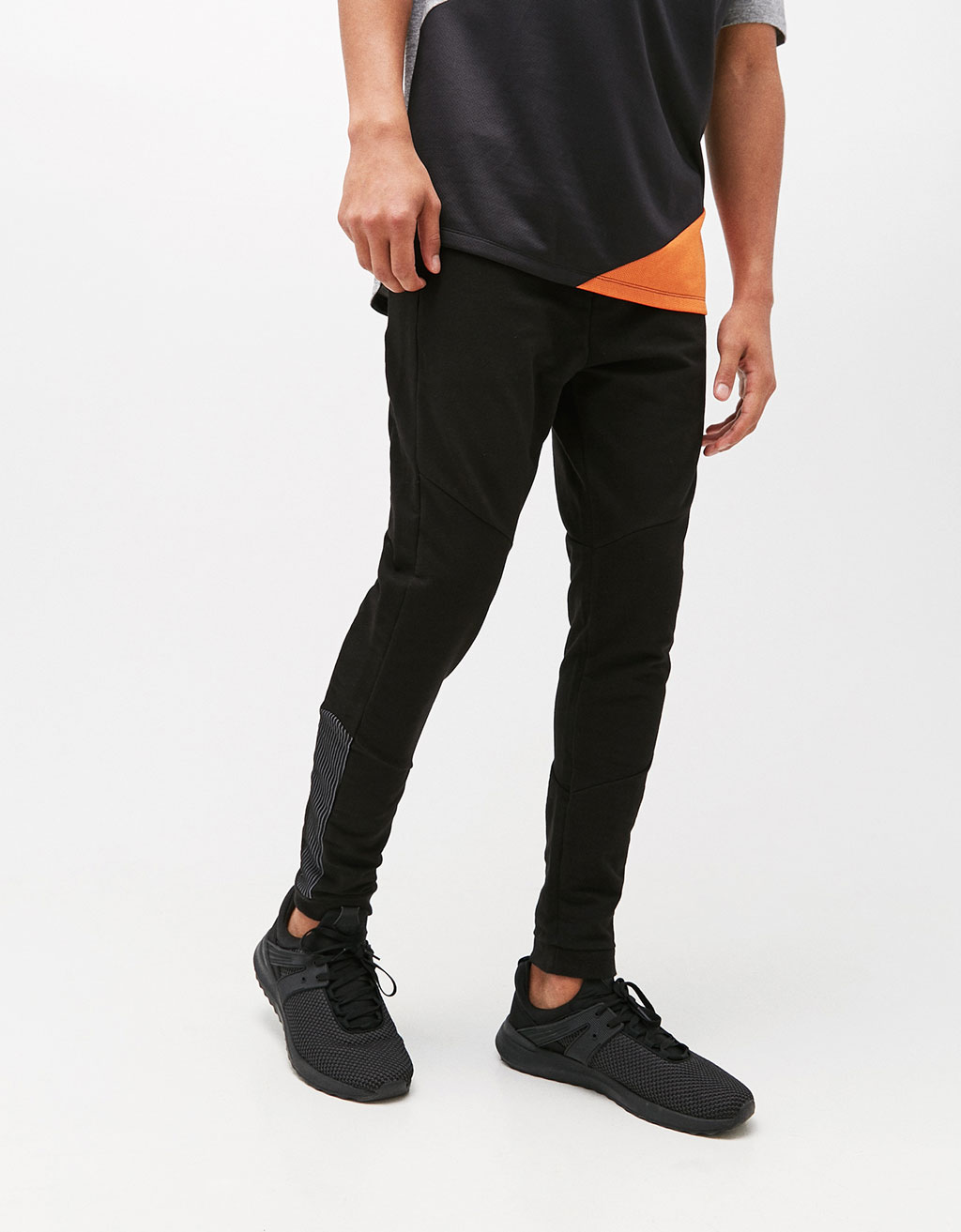 Textured plush jersey trousers