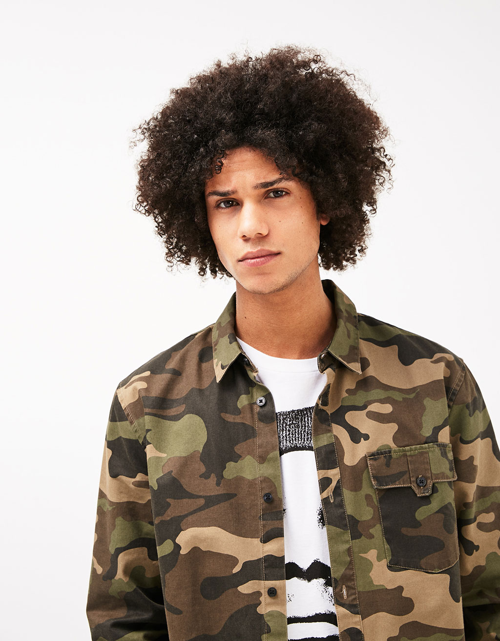Camouflage printed shirt