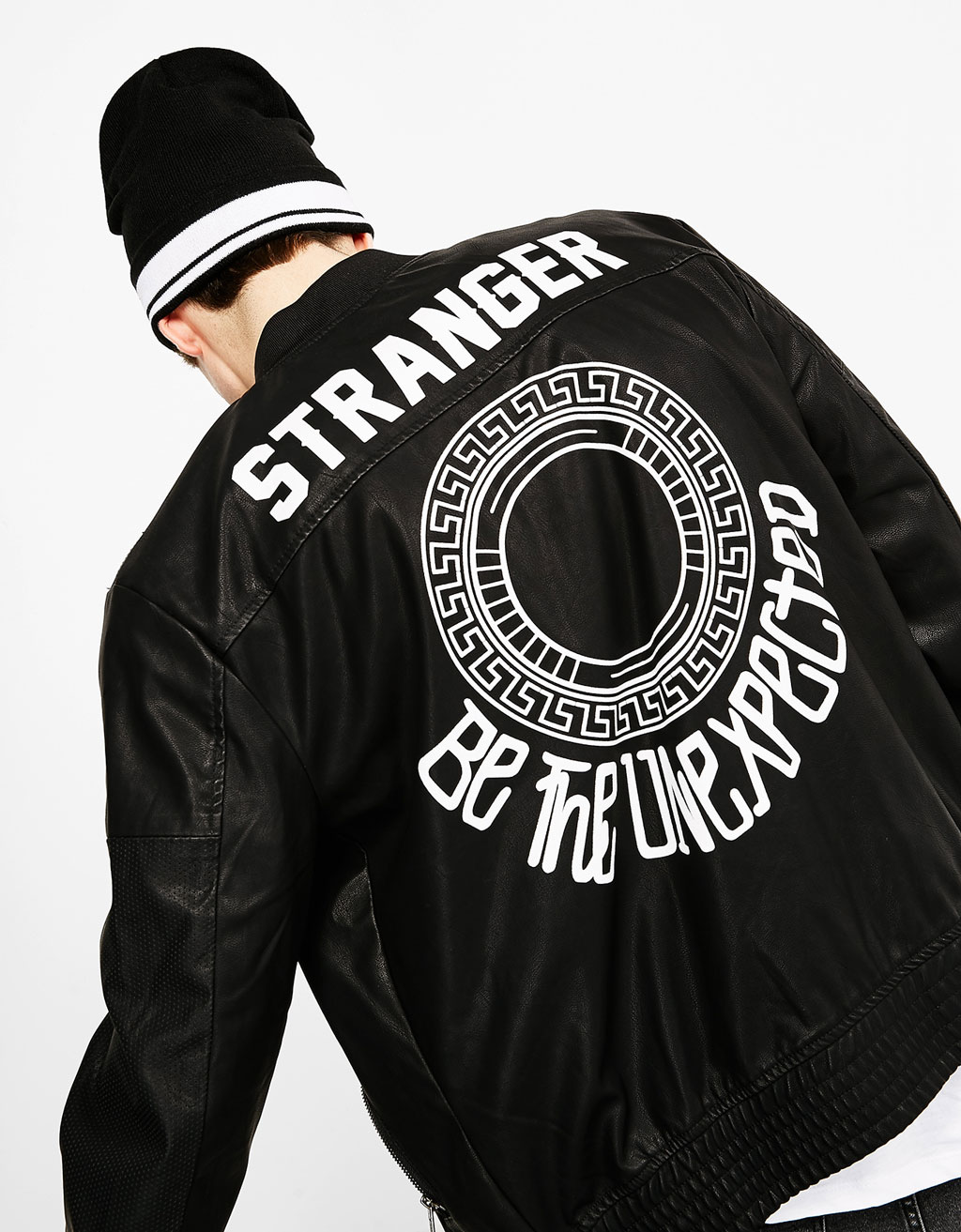 Slogan bomber jacket
