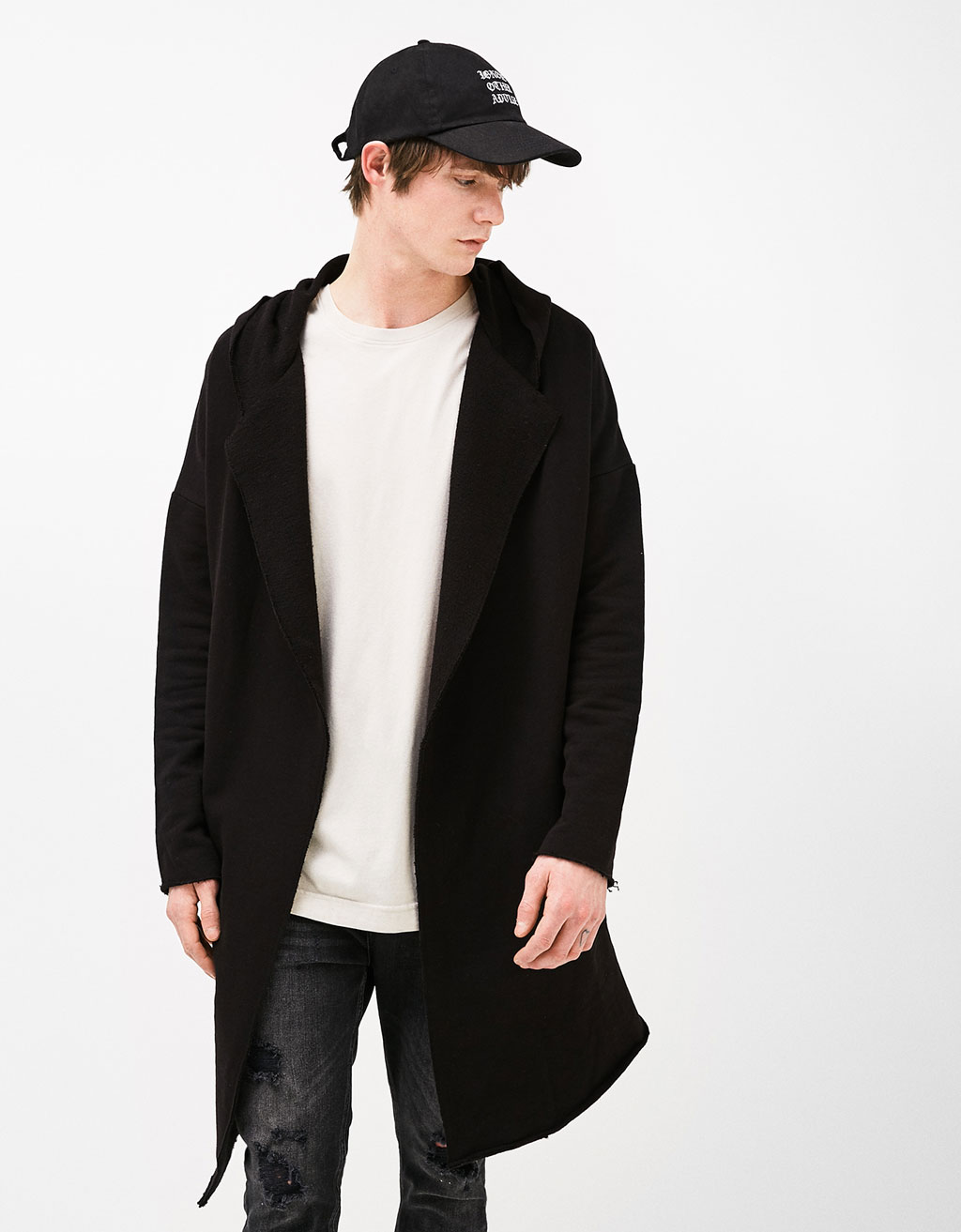 Asymmetric jacket with hood
