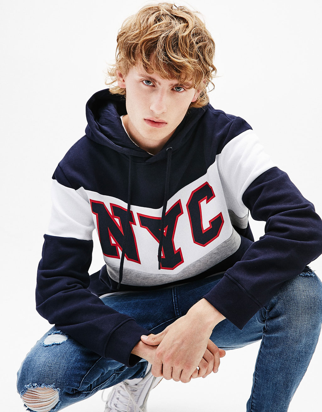 Urban/NY chevron hooded sweatshirt