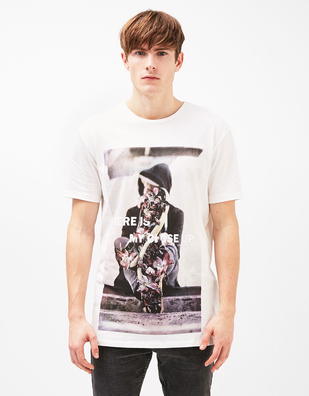 Panther/Flowers/Skull T-shirt
