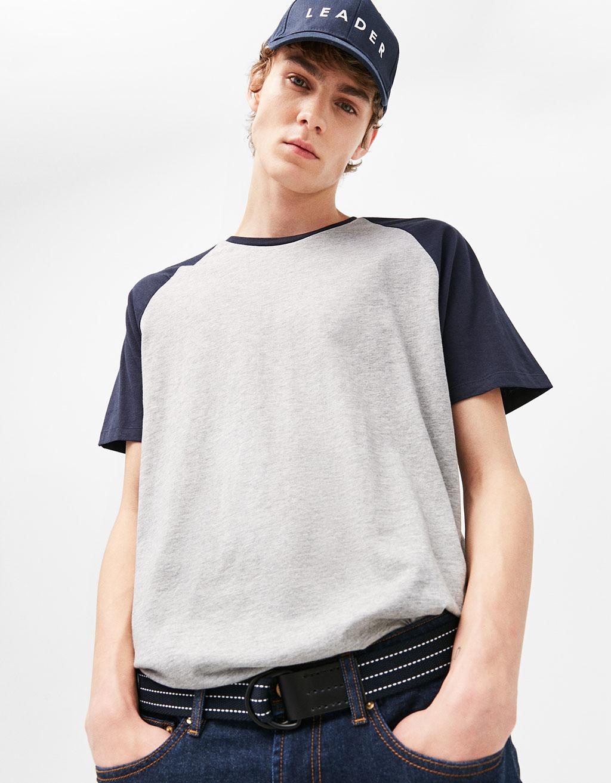 Baseball T-shirt with short sleeves