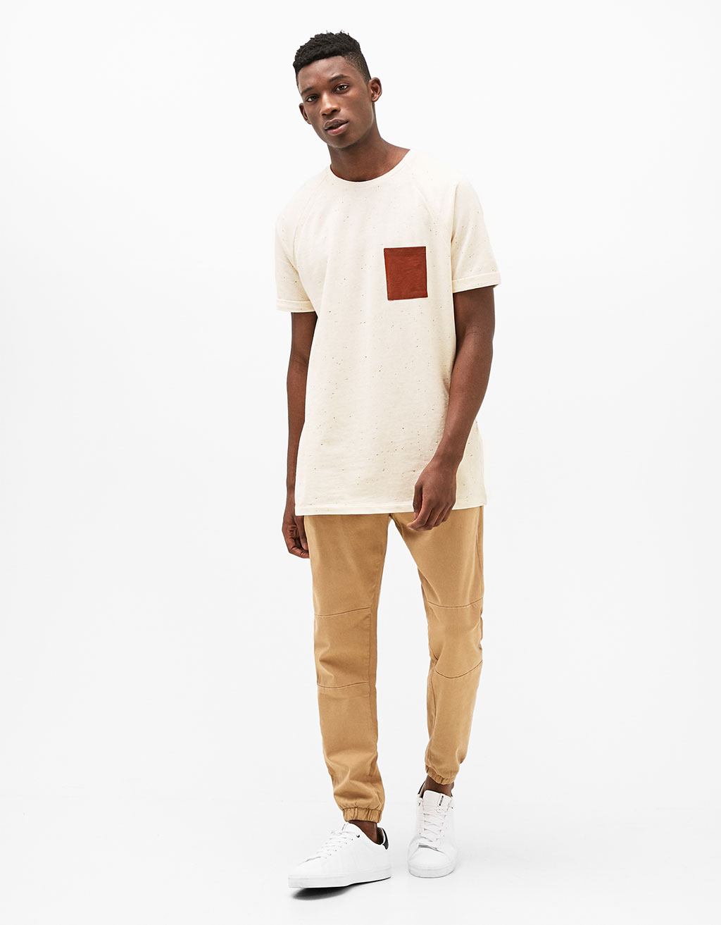 Contrast pocket T-shirt
