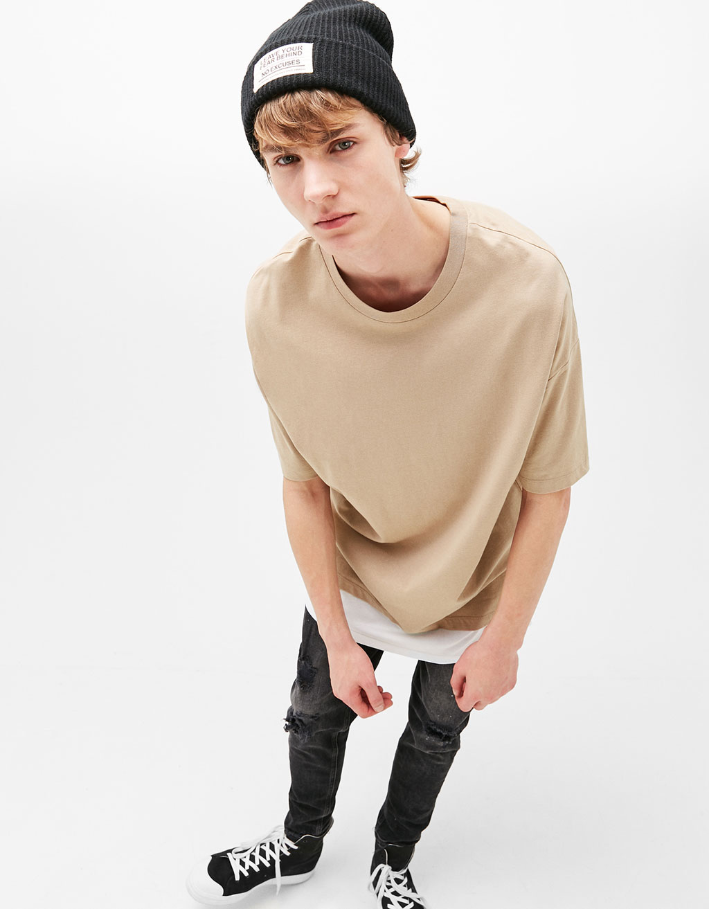 Boxy fit double layered T-shirt