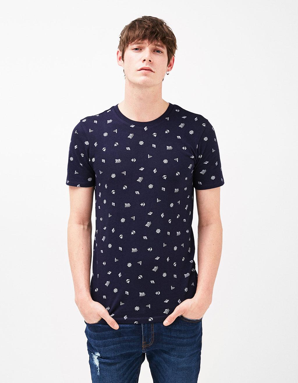 SKULLS/SAILORS print T-shirt