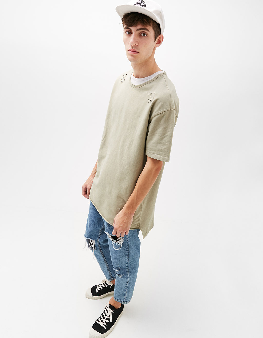 Ripped plush T-shirt