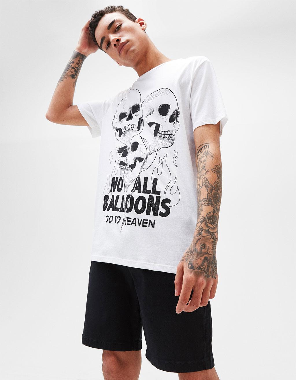Balloons/Bro print T-shirt