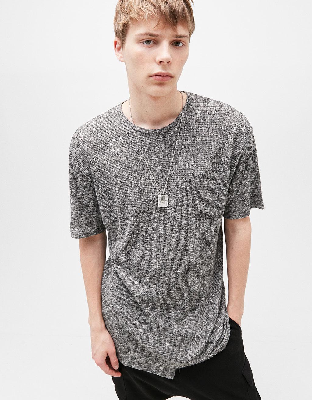 Asymmetric knit T-shirt
