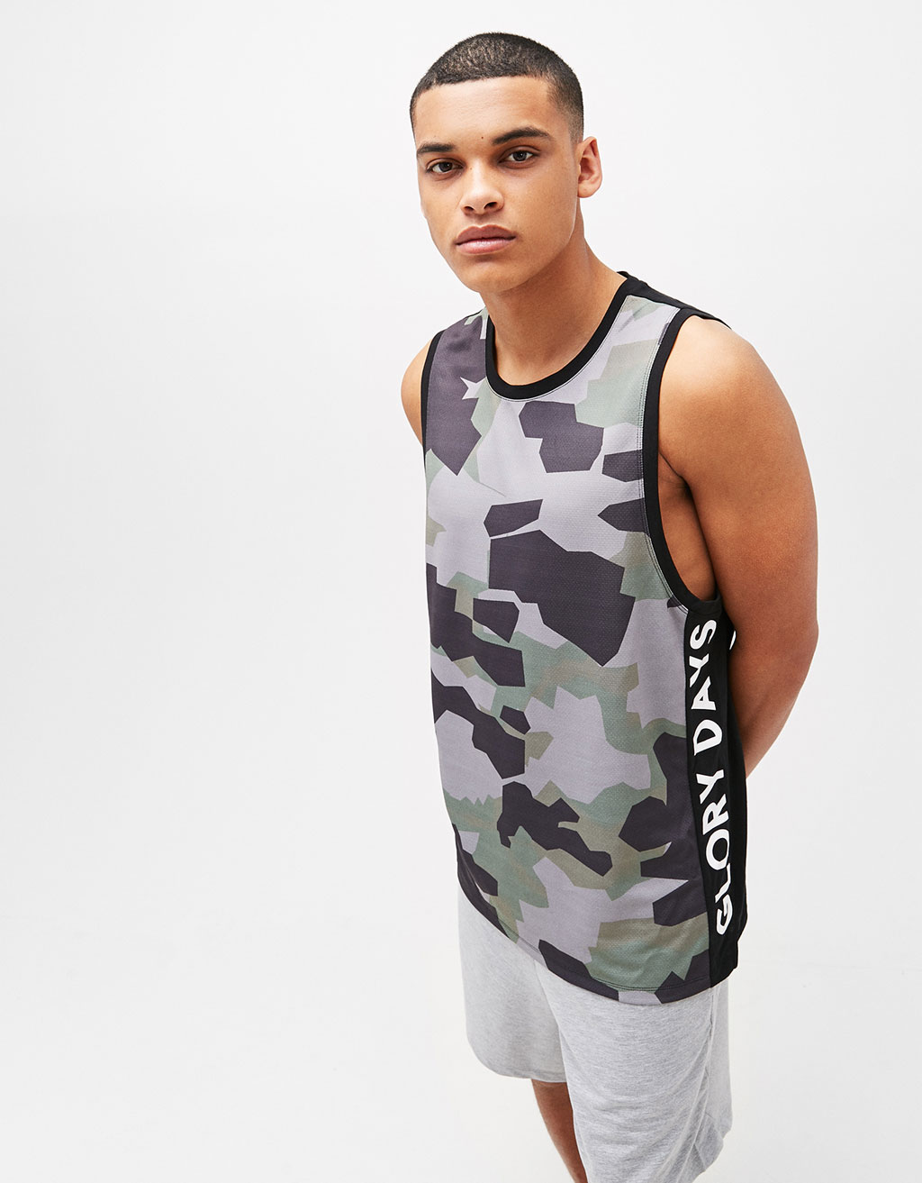 'Glory Days' camouflage print strappy top