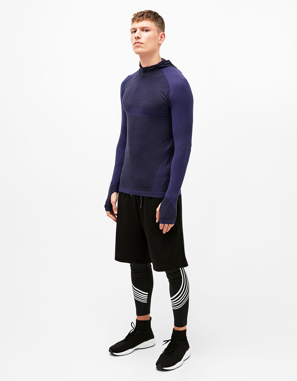 Technical sport T-shirt with hood