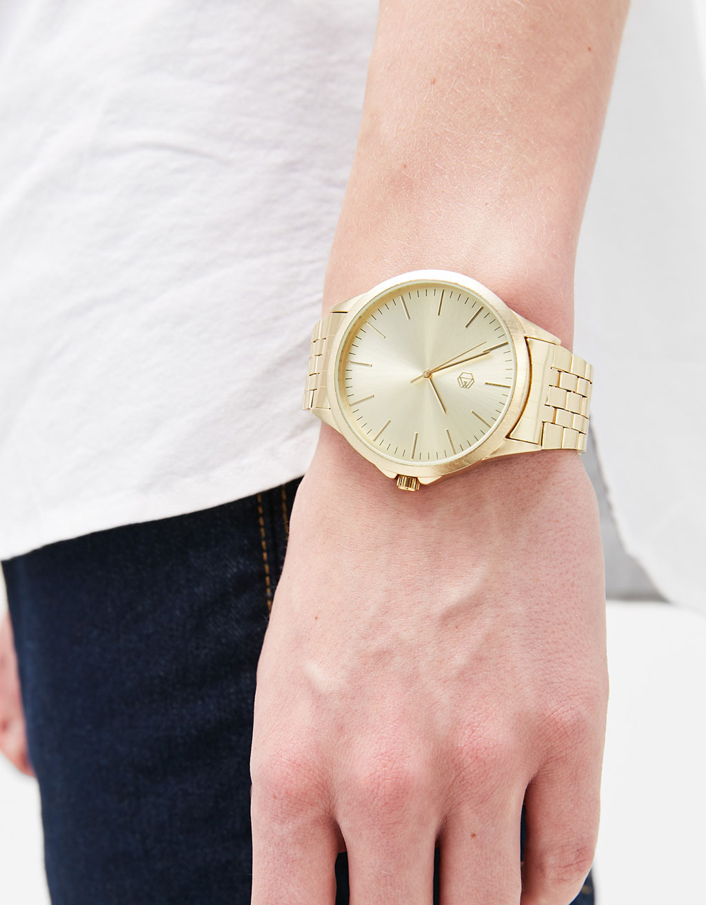 Golden-chained watch