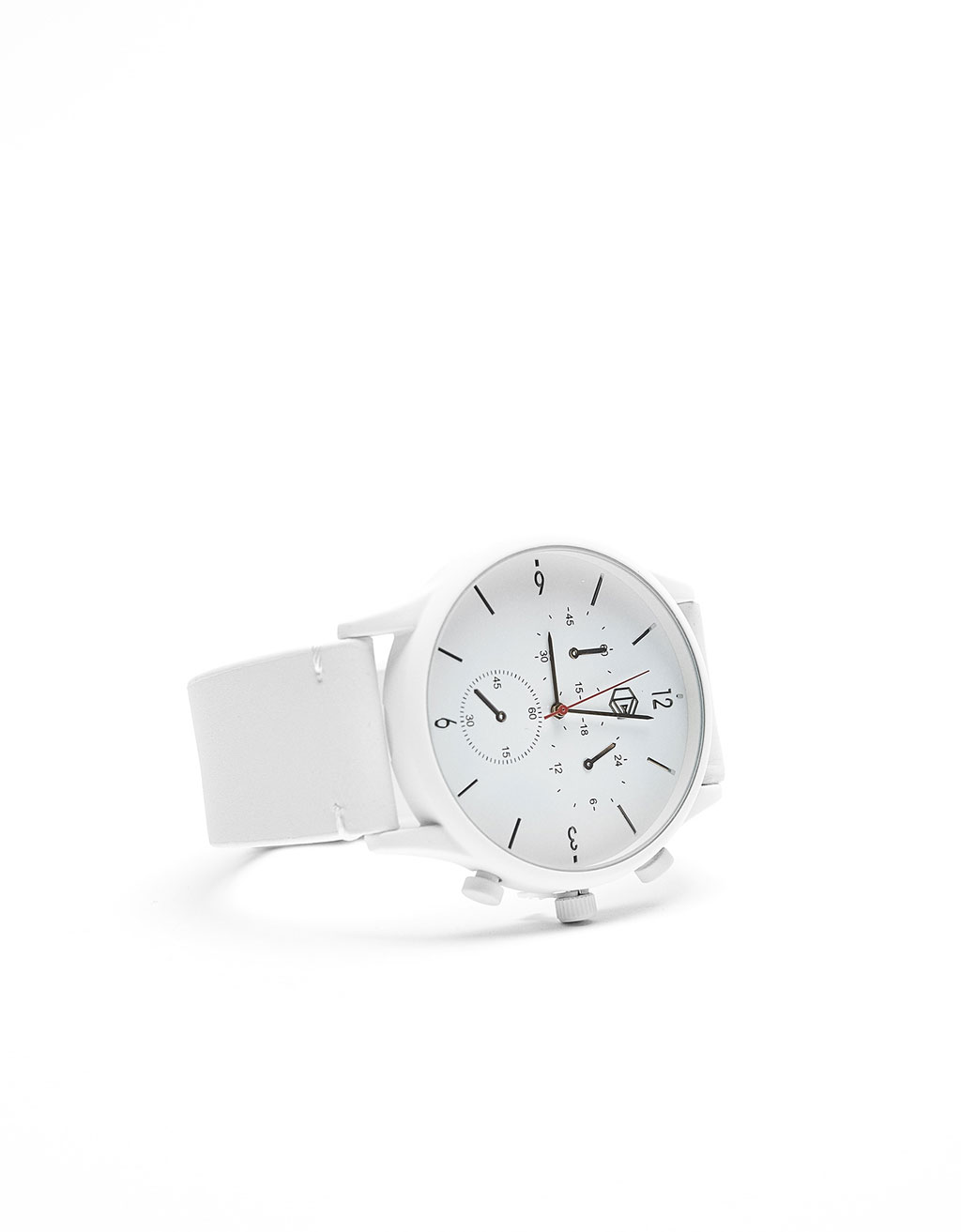 White strap watch