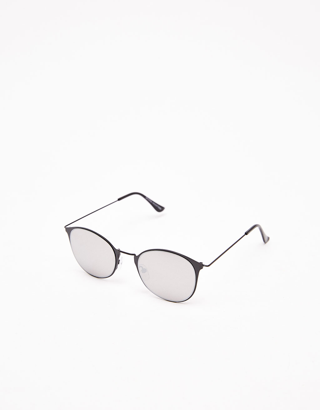 Metallic mirror-effect sunglasses