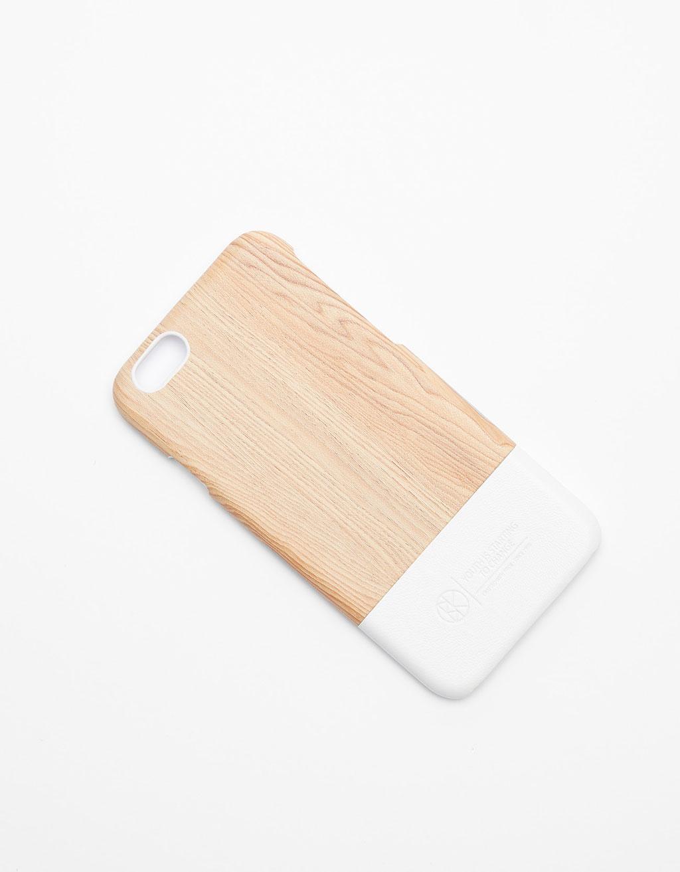 Puhelimen kuori puu iPhone 6/6s