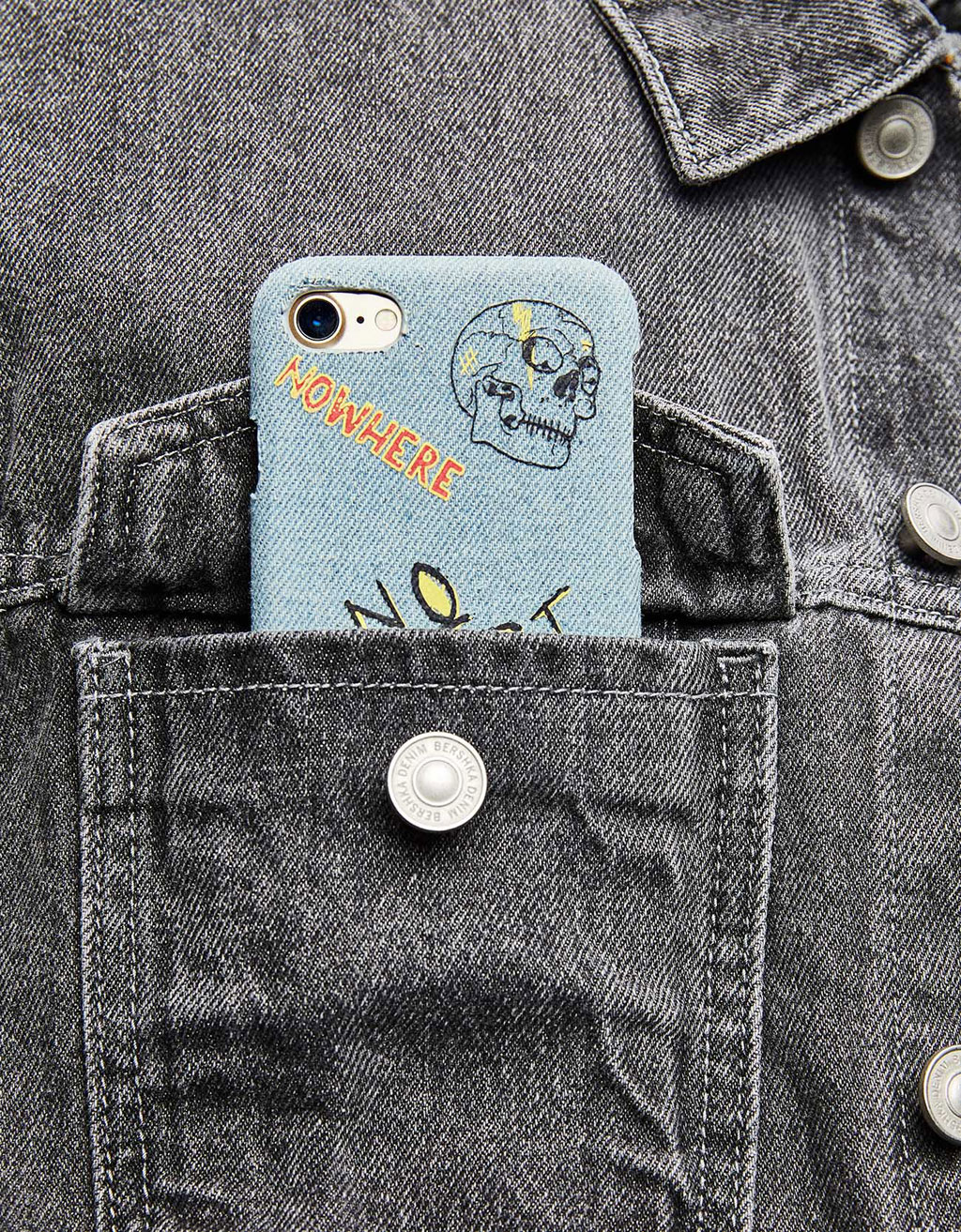 Coque denim iPhone 7