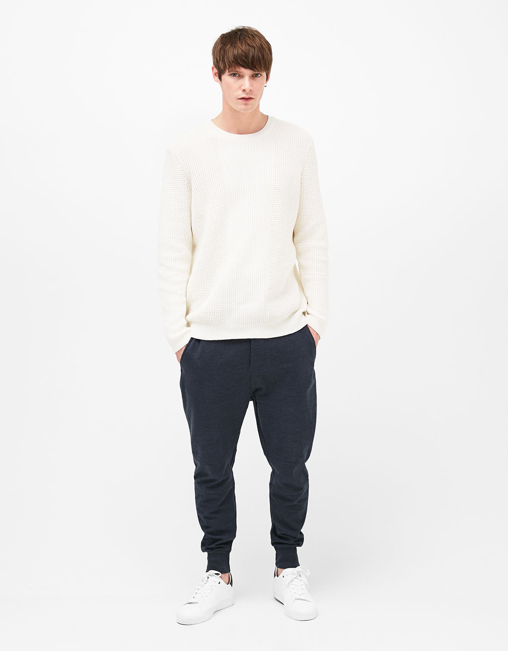 Plush jogger trousers
