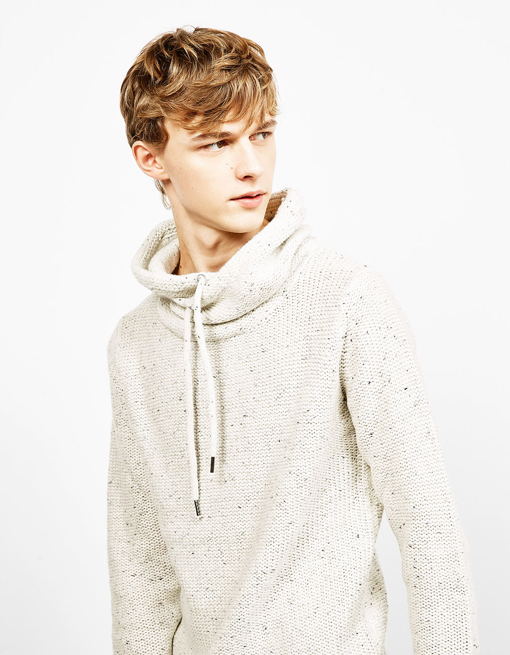 Sweater with a wrapover collar