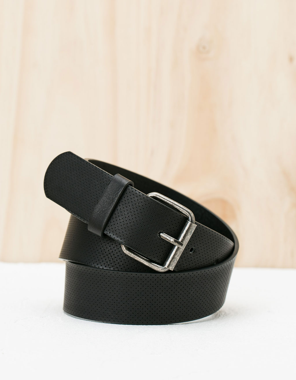 Perforated micro belt