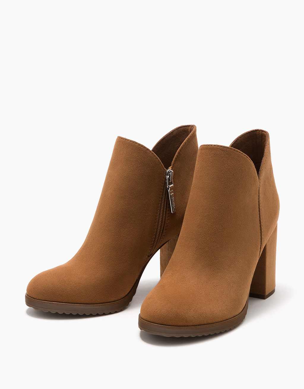 ankle boots with block mid-heel