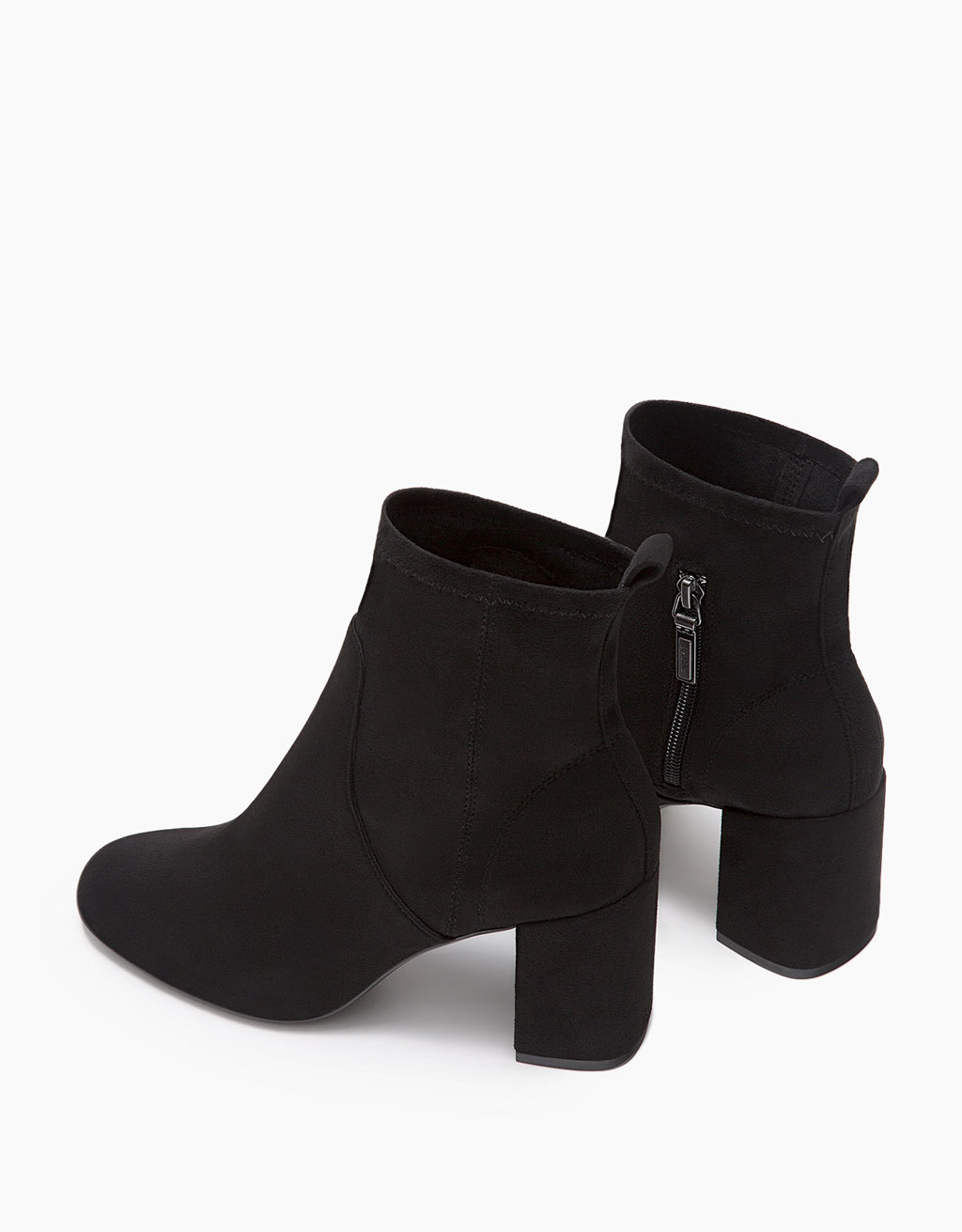 Mid-heel ankle boots with fitted leg