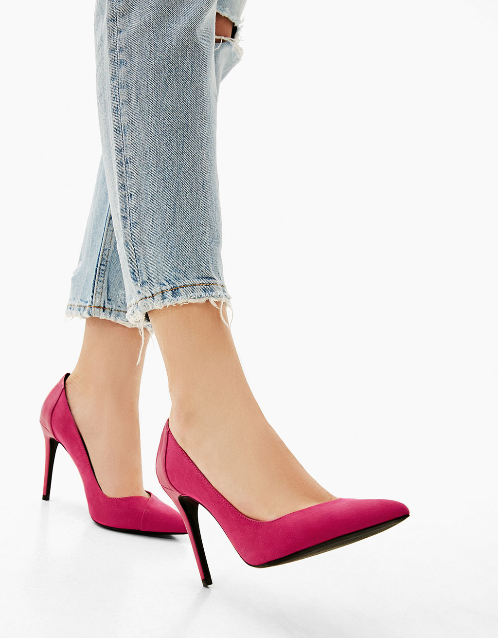 Contrast stiletto heel shoes