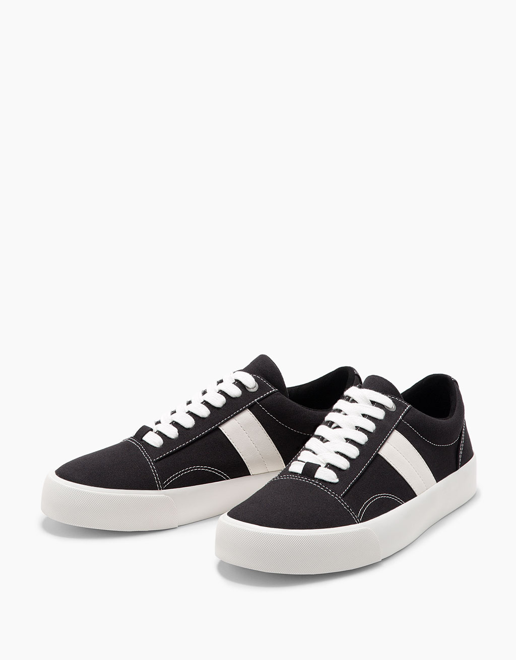 Fabric sneakers with side detail