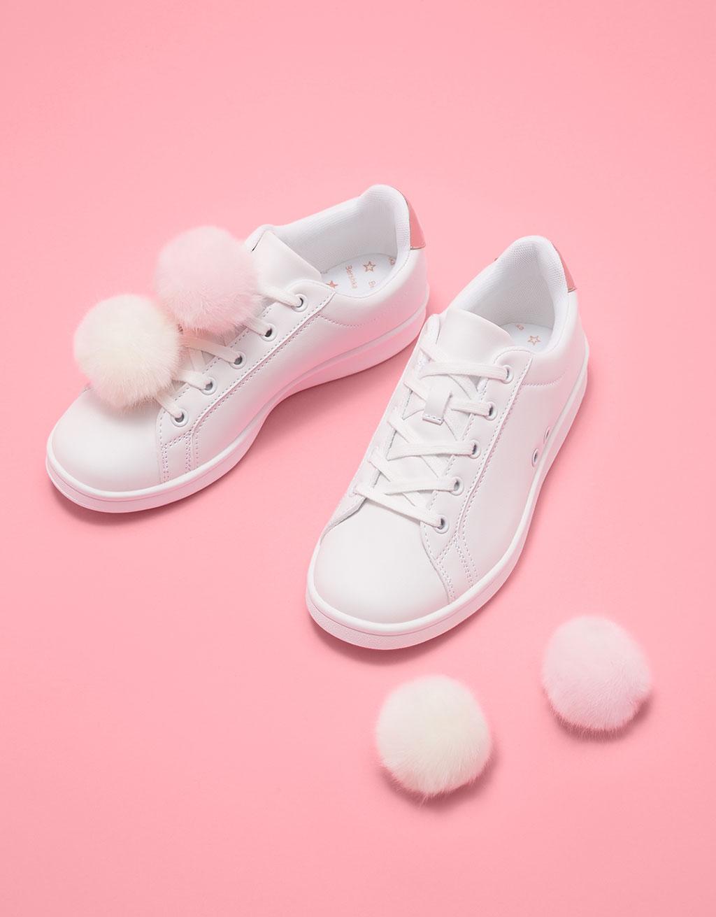 Pompoms slippers