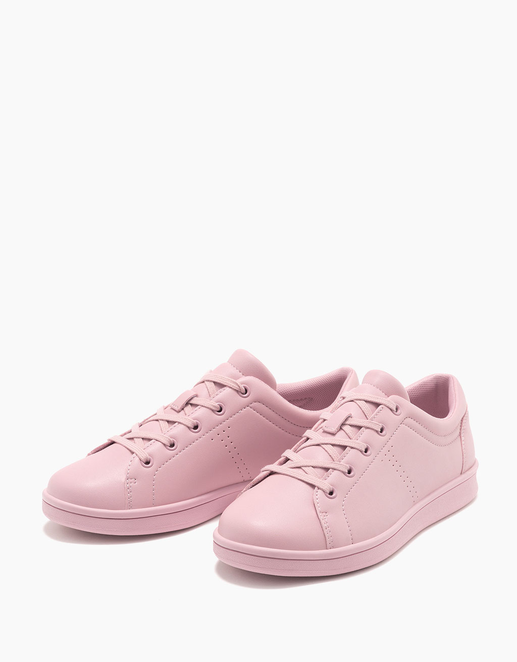 Single coloured lace-up sneakers