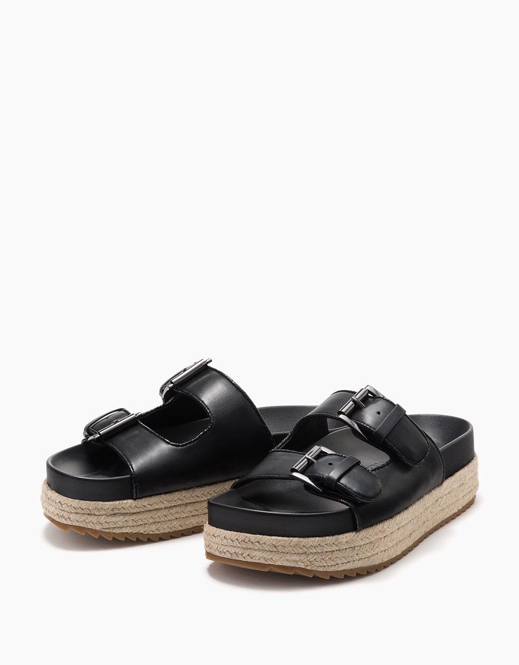 Jute bio platform sandals