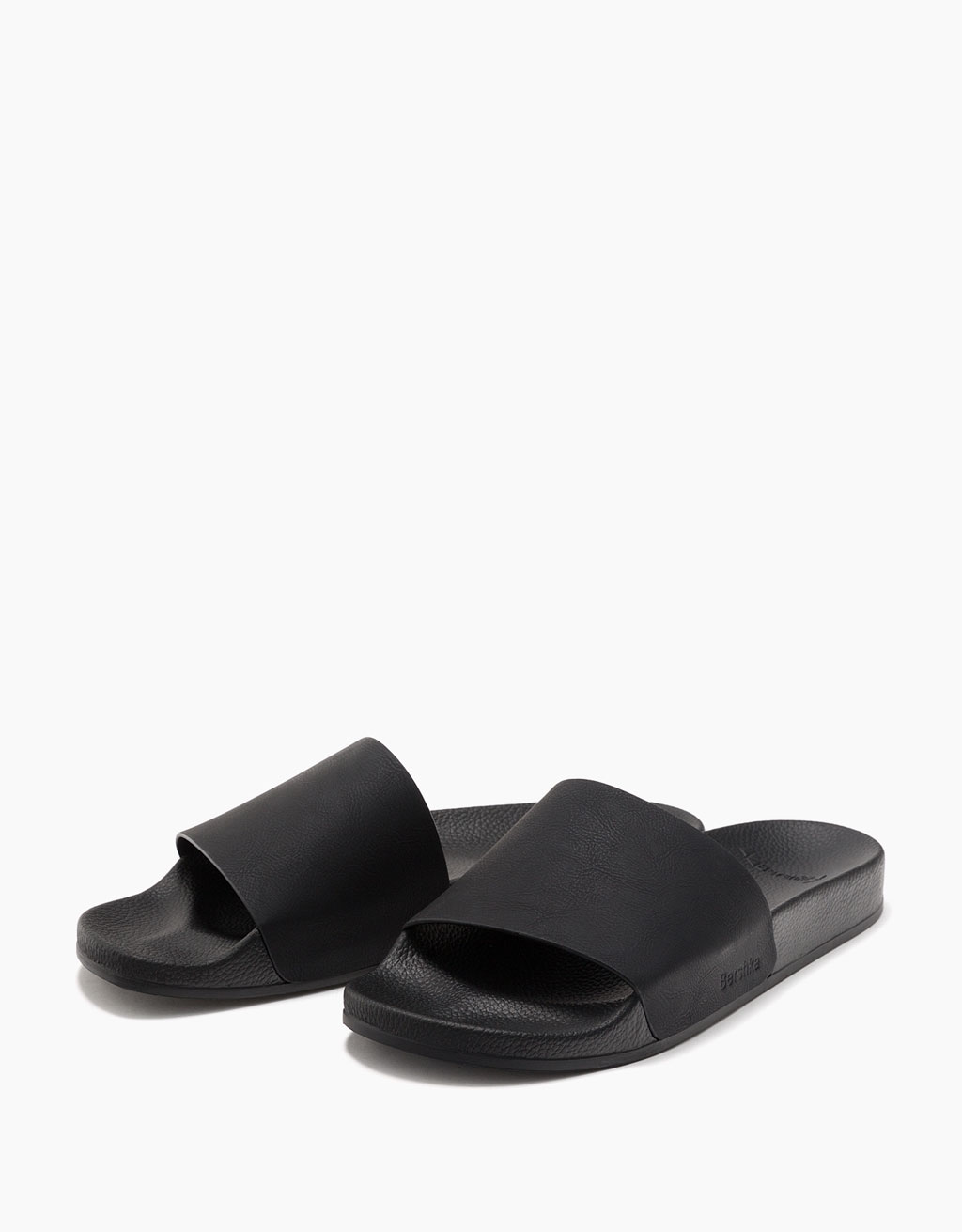 Men's black slides