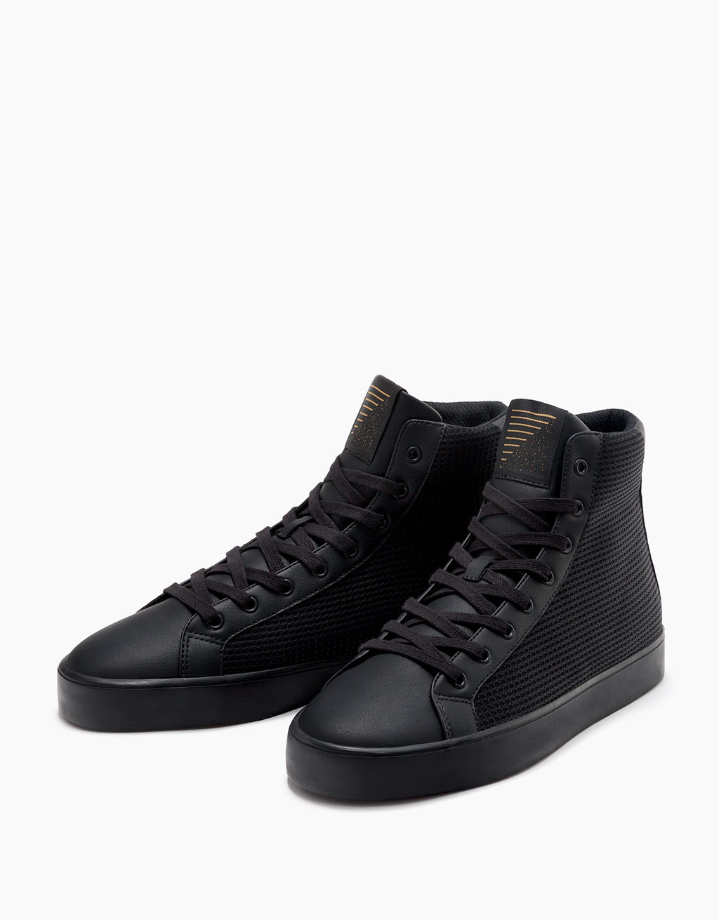 Men's fabric  high top sneakers