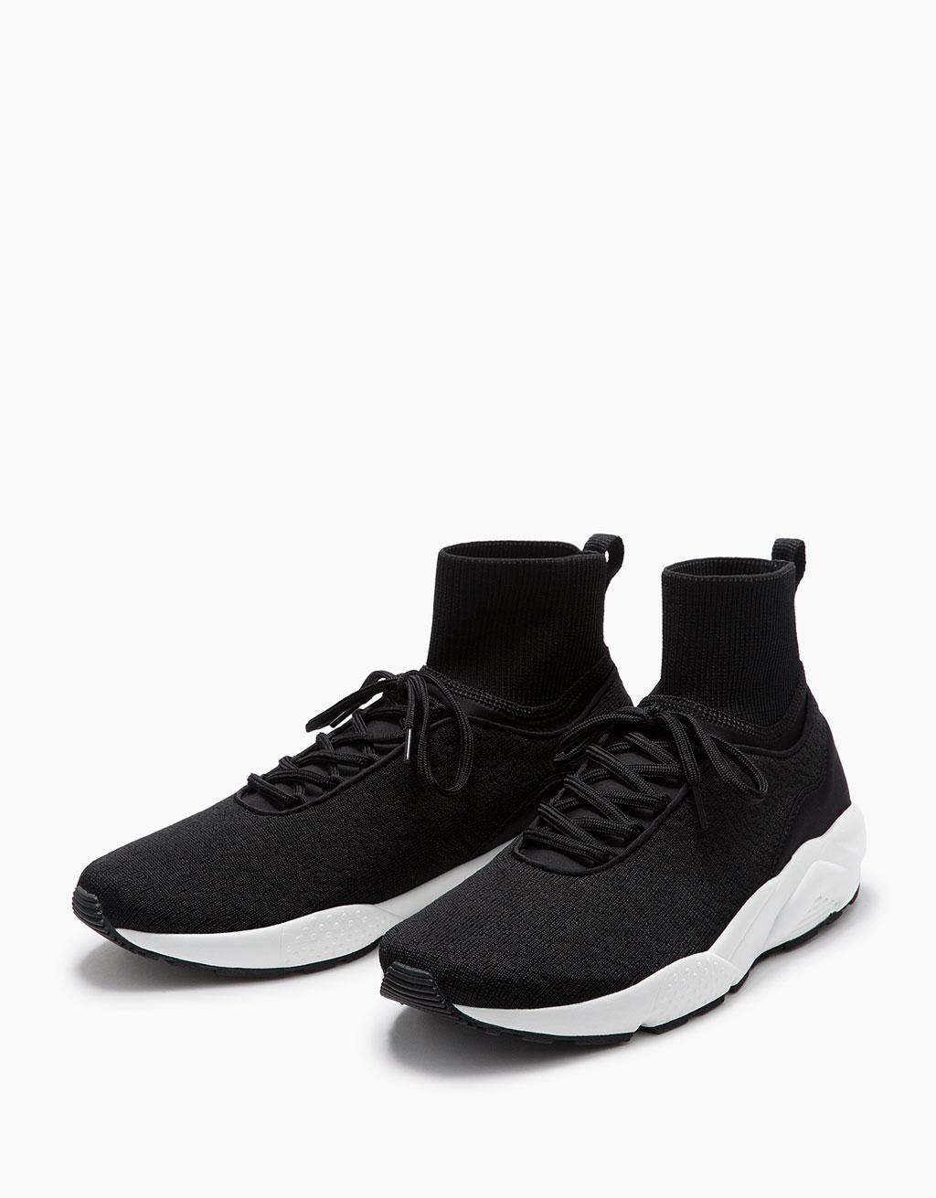 Men's high-top sock sneakers with technical sole