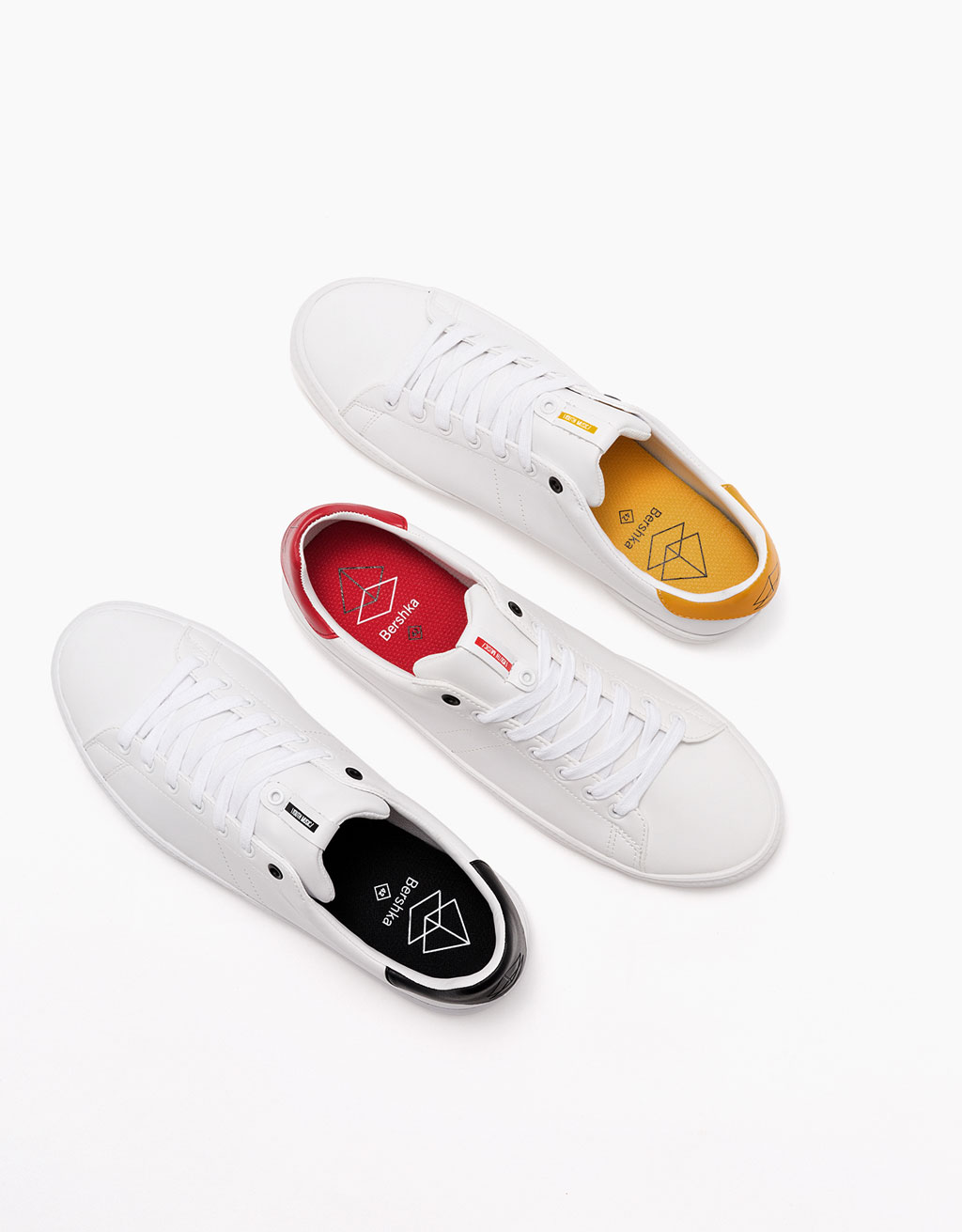 Men's basic coloured sole sneakers