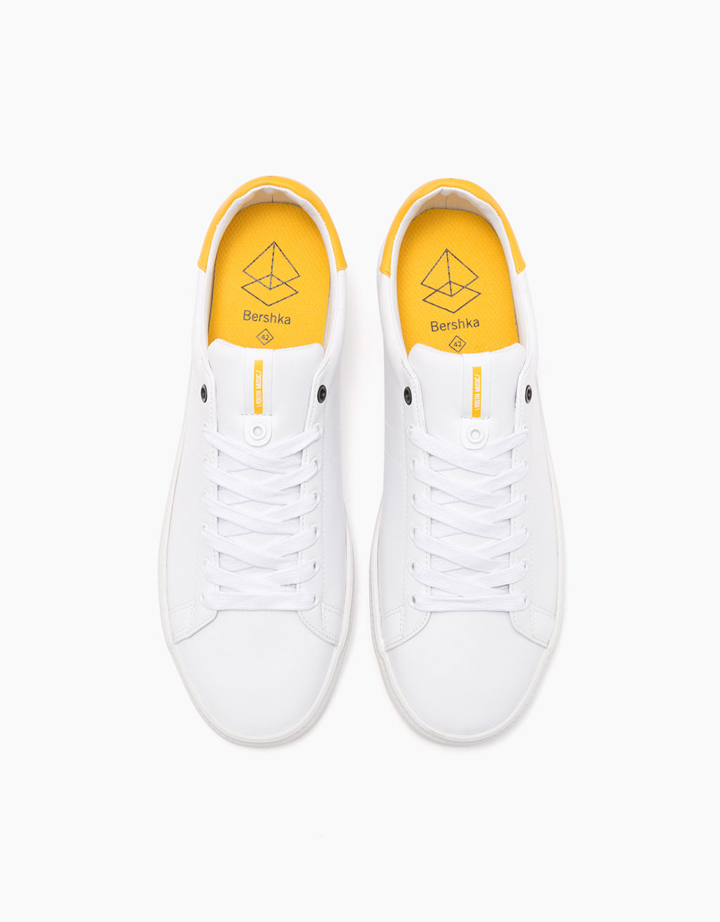 Men's basic plimsolls with yellow detail