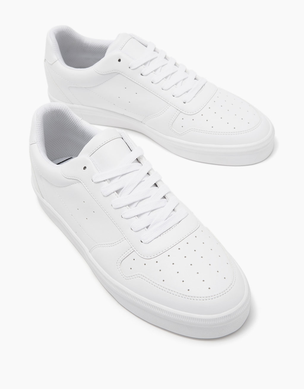 Men's retro topstitched sneakers