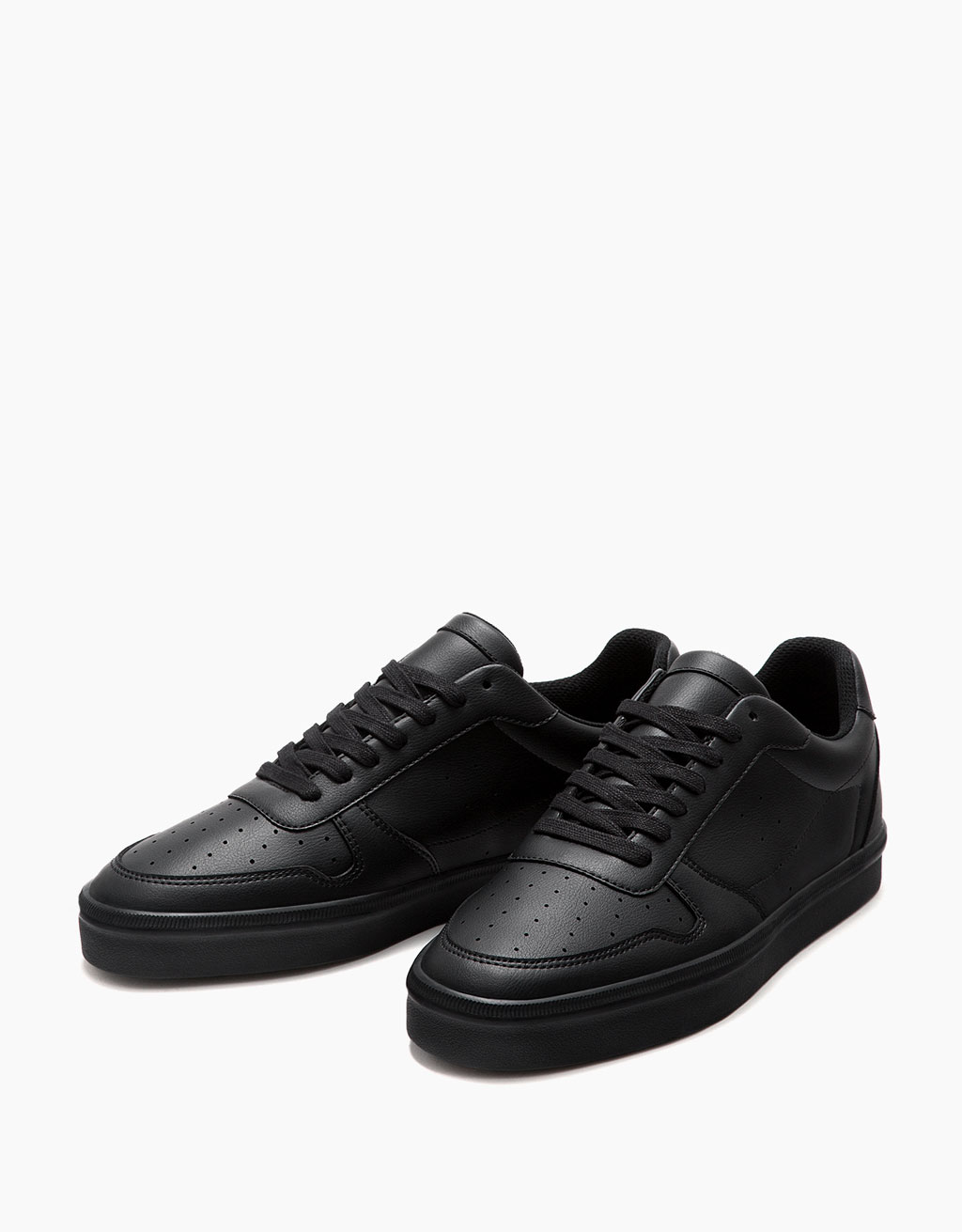 Men's retro topstitched sneakers